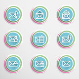 Envelope buttons Royalty Free Stock Photos