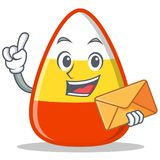 With envelope candy corn character cartoon Stock Image