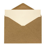 Envelope and card Stock Image
