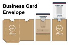 Envelope card die cut mock up template vector. An Envelope card die cut mock up template vector royalty free illustration