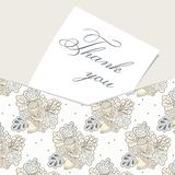 Envelope card with hand drawn oak pattern Stock Photo