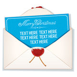Envelope and Card Merry Christmas Royalty Free Stock Photos