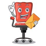 With envelope cartoon desk chair in the office. Vector illustration stock illustration