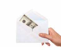 Envelope with cash Stock Photo