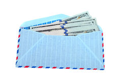 Envelope with cash in dollars Royalty Free Stock Photo