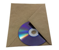Envelope with a cd inside. Unmarked envelope with a cd inside Stock Image
