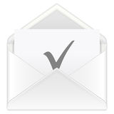 Envelope check symbol Stock Photography