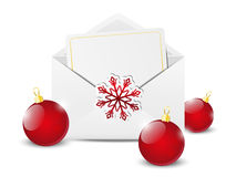 Envelope with Christmas card Stock Image