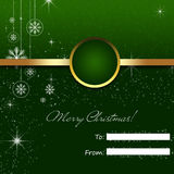 Envelope for Christmas cards. Green envelope for Christmas card with abstract New Years design royalty free illustration