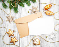 Envelope with christmas decoration Stock Photography