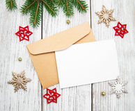 Envelope with christmas decoration Royalty Free Stock Image
