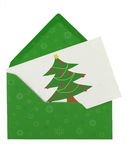 Envelope and christmas note Royalty Free Stock Image