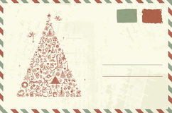 Envelope with christmas sketch stock illustration