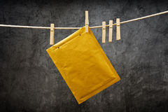 Envelope on clothes rope Stock Photography