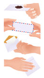Envelope collection. Illustration, AI file included royalty free illustration