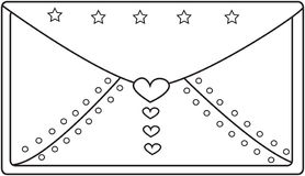Envelope coloring page. Useful as coloring book for kids Royalty Free Stock Photography