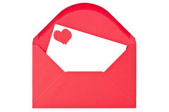 Envelope com carta de amor Fotografia de Stock Royalty Free