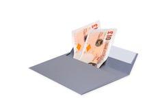 Envelope com dinheiro Fotos de Stock
