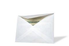 Envelope com dinheiro Fotos de Stock Royalty Free