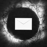 Envelope com neve fotos de stock royalty free