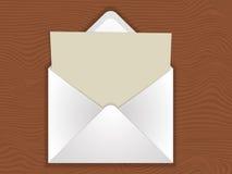Envelope com placa Fotografia de Stock