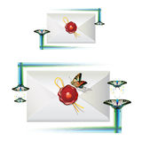 Envelope com selo Foto de Stock