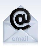 Envelope com sinal do email Imagens de Stock
