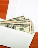 Envelope com um dinheiro foto de stock royalty free