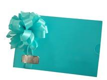 Envelope congratulatório com uma curva Imagem de Stock Royalty Free