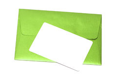 Envelope with congratulatory card Royalty Free Stock Photo