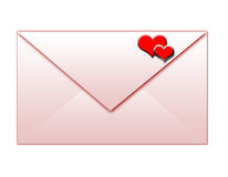 Envelope cor-de-rosa isolado Foto de Stock Royalty Free
