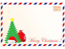 Envelope and Cristmas Day Royalty Free Stock Photography