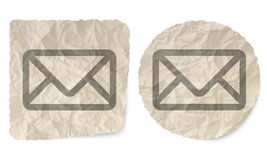 Envelope. Crumpled slip of paper and a envelope Royalty Free Stock Image