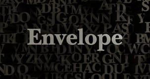 Envelope - 3D rendered metallic typeset headline illustration Stock Photo