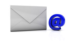 Envelope in 3d Royalty Free Stock Image
