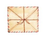 Envelope da aquarela Fotos de Stock Royalty Free