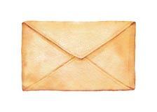 Envelope da aquarela Imagens de Stock Royalty Free