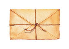 Envelope da aquarela Imagem de Stock Royalty Free
