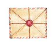 Envelope da aquarela Imagem de Stock