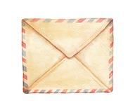Envelope da aquarela Imagens de Stock