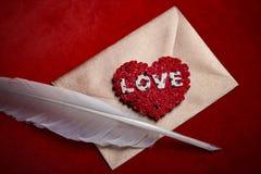 Envelope da carta de amor Imagens de Stock Royalty Free