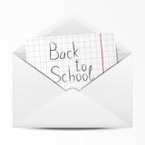 Envelope da escola Fotos de Stock