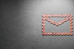 Envelope da moeda Fotografia de Stock