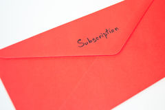 Envelope da subscrição Foto de Stock