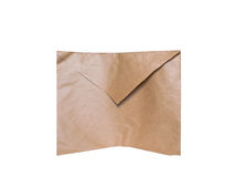 Envelope de Brown Fotografia de Stock