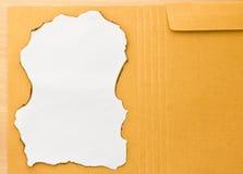 Envelope de Brown Imagens de Stock Royalty Free
