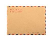 Envelope de Brown isolado Fim acima Foto de Stock