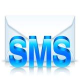 Envelope de Sms Imagem de Stock