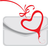 Envelope and decorative heart Stock Photography