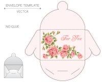 Envelope design die-stamping Royalty Free Stock Image